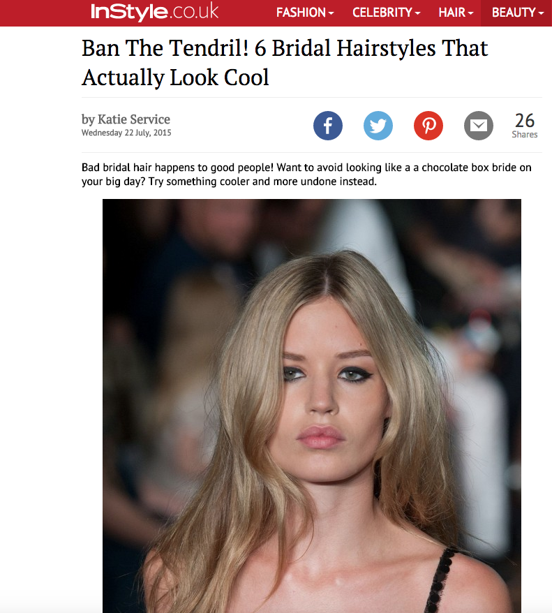 InStyle- \'6 Bridal Hairstyles That Actually Look Cool\' - Daniel Galvin