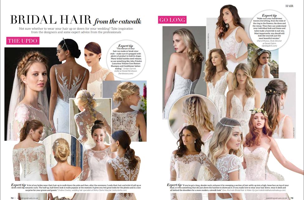 Wedding Venues Bridal Hair From The Catwalk Daniel Galvin