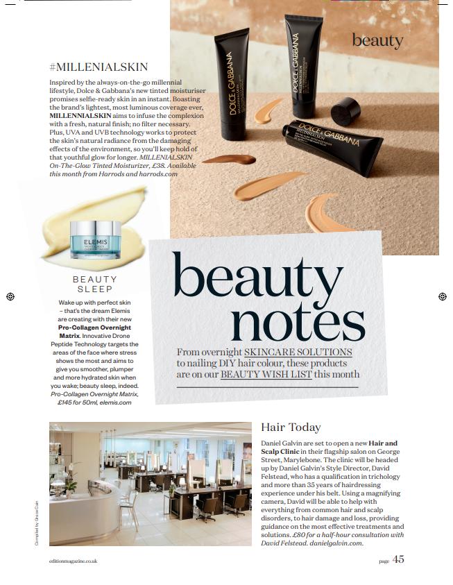 Edition Magazine Daniel Galvin