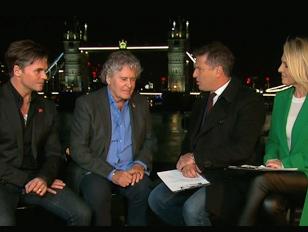 royal wedding hair TV interview