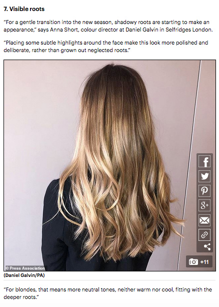 Mail Online 7 Hair Colour Trends That Are Going To Be
