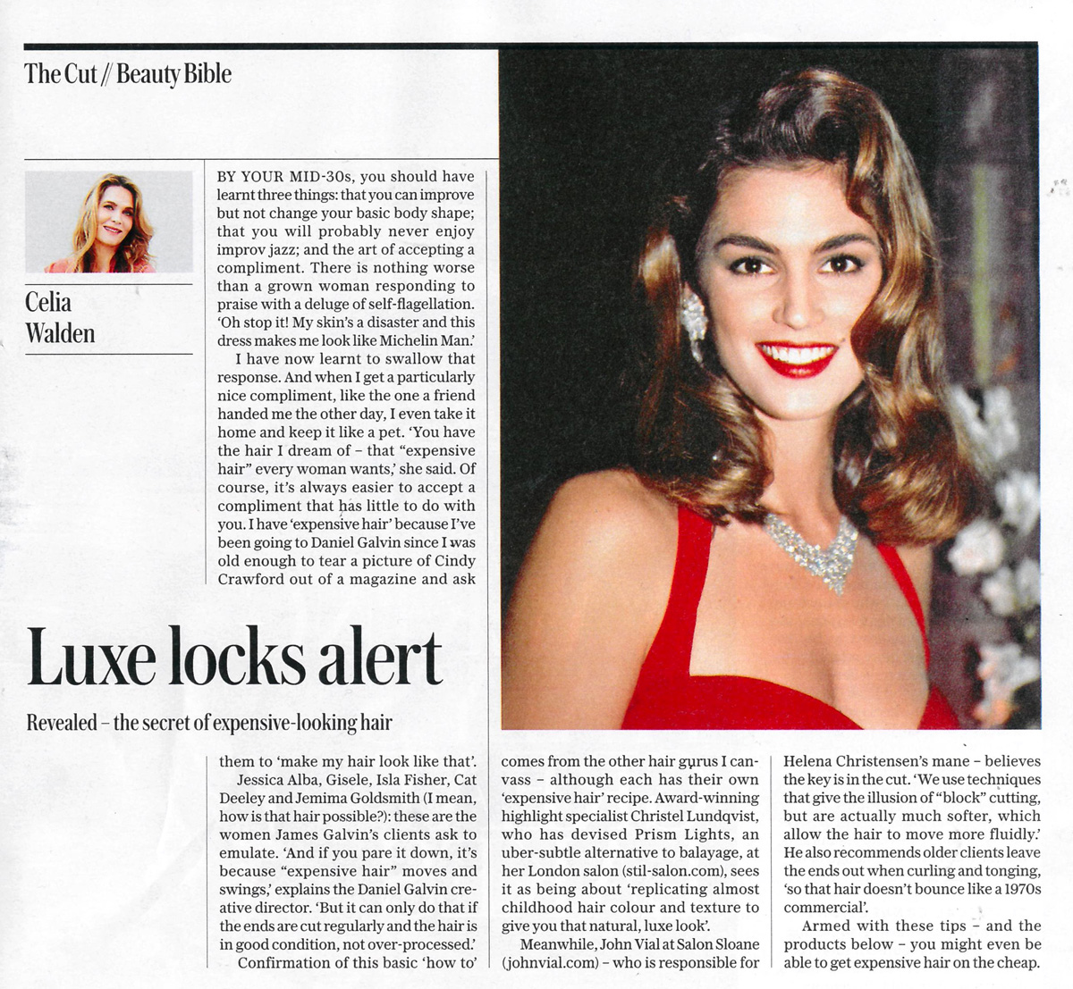 The Telegraph Magazine Luxe Locks Alert