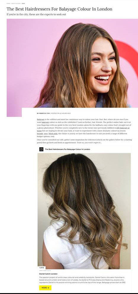 grazia balayage best salon london